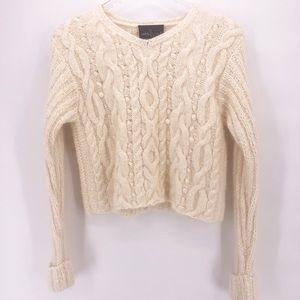 Carol Little SPORT Cropped Cable Knit Sweater 90's